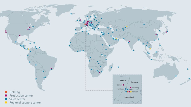 Worldwide presence of Endress+Hauser to support projects in your country.