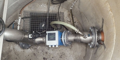 Wastewater sampling in a shaft